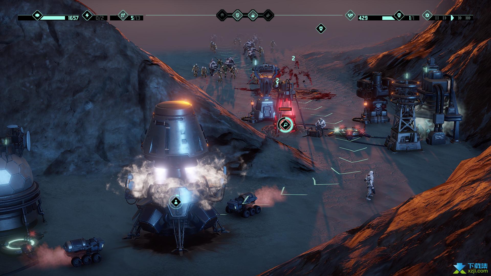 火星Z战术基地防御游戏界面4