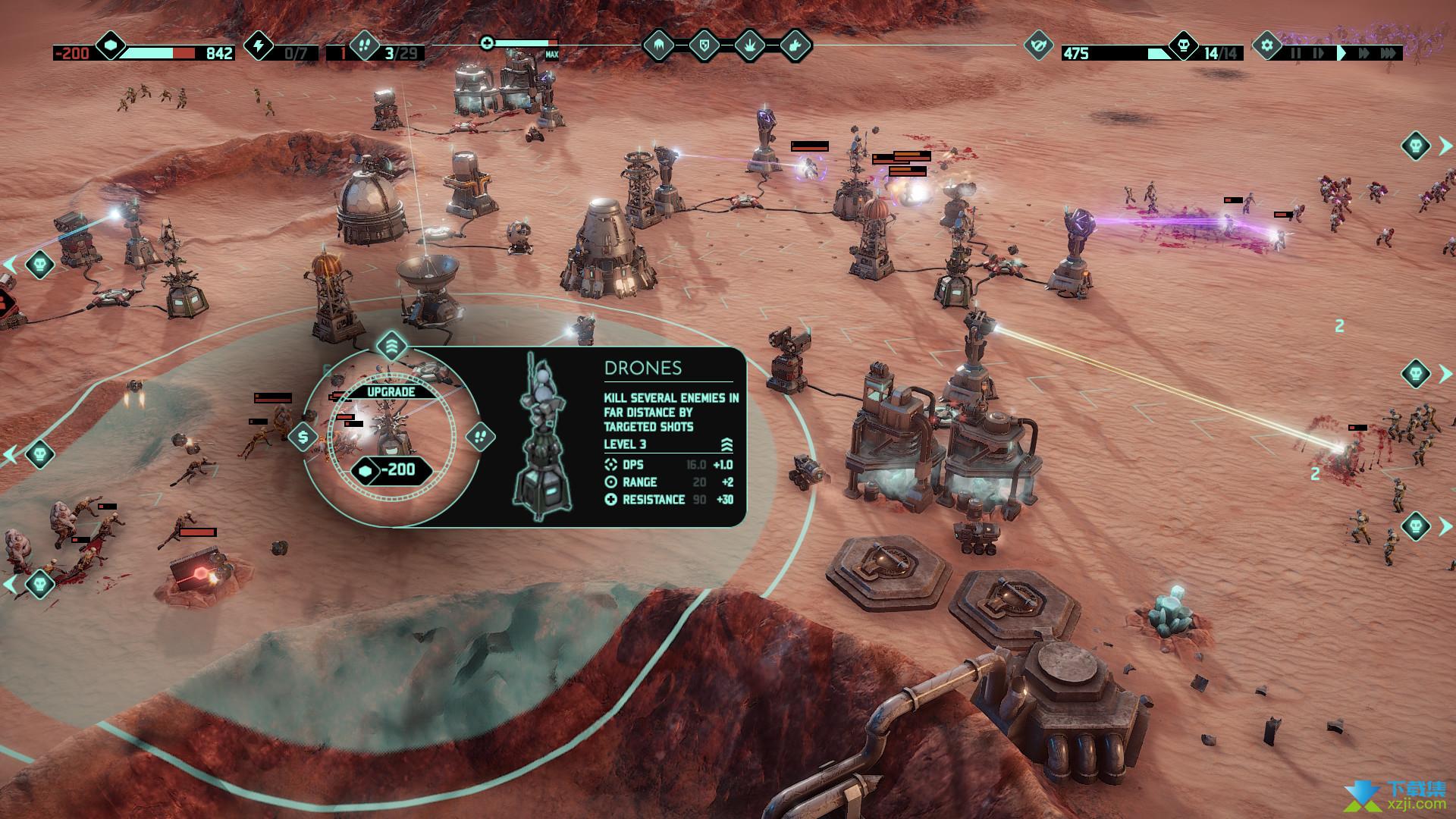 火星Z战术基地防御游戏界面3