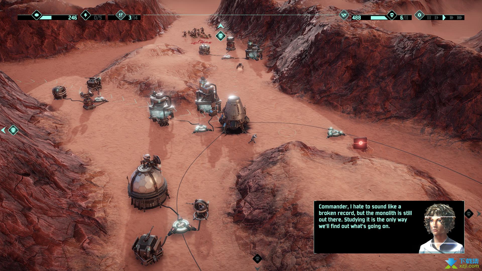 火星Z战术基地防御游戏界面2