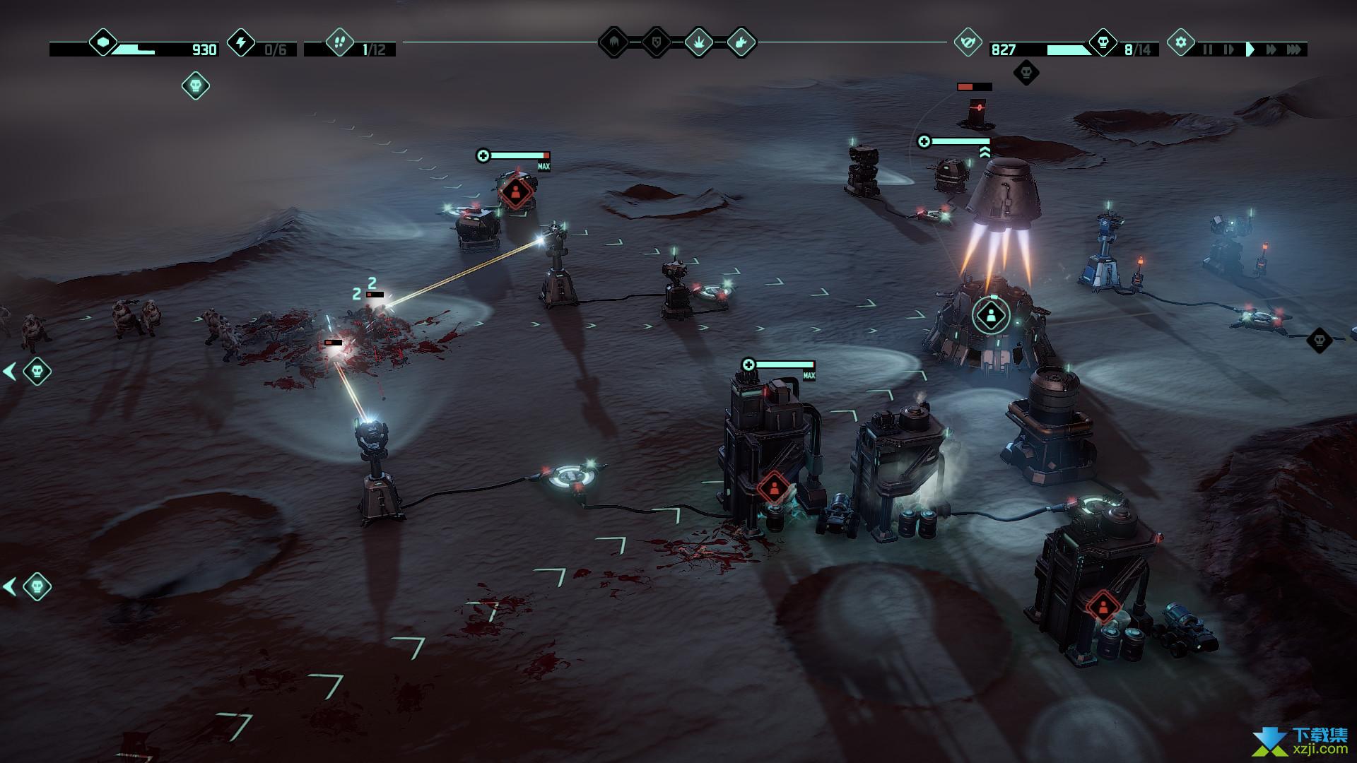 火星Z战术基地防御游戏界面1