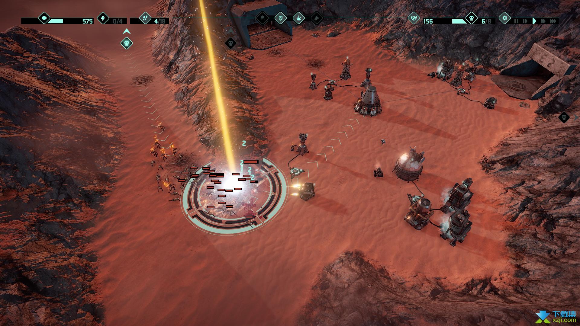 火星Z战术基地防御游戏界面