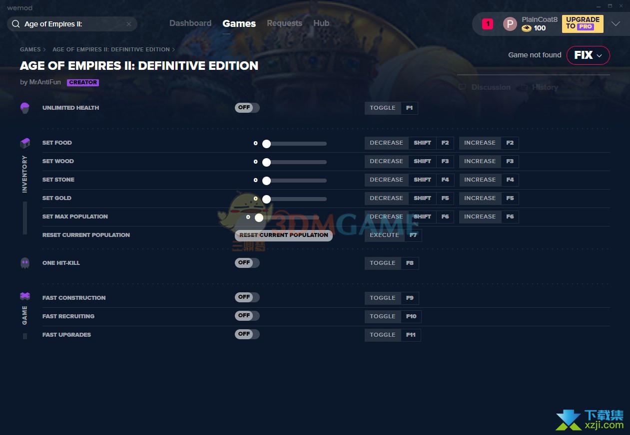 帝国时代2决定版修改器+11