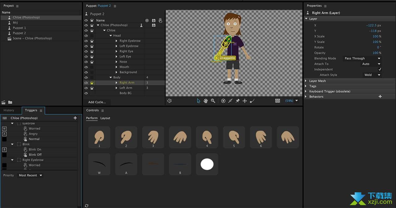 Adobe Character Animator界面1