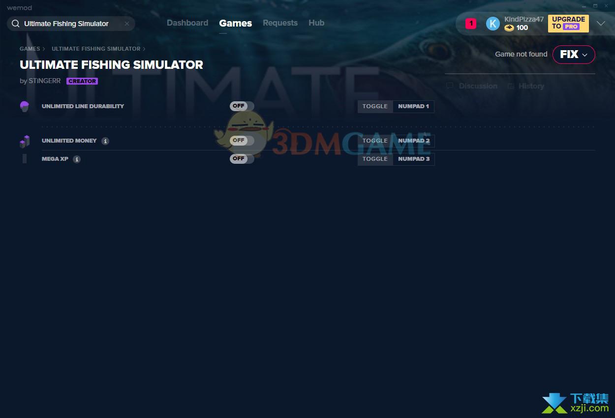 终极钓鱼模拟器修改器+3