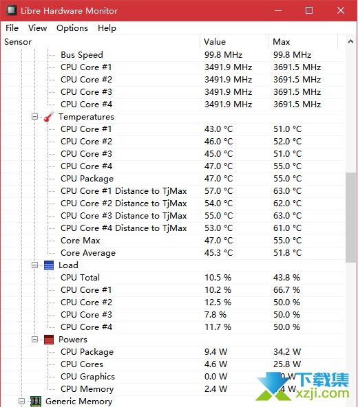 Libre Hardware Monitor界面