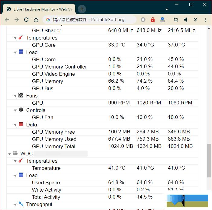 Libre Hardware Monitor界面1