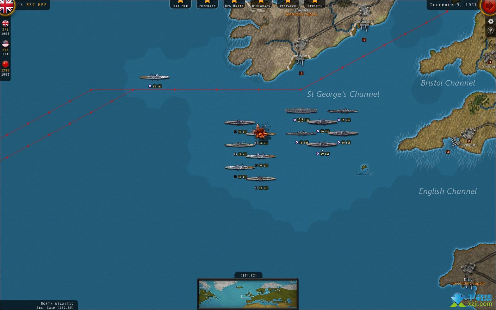 战略命令二战-欧洲战场界面