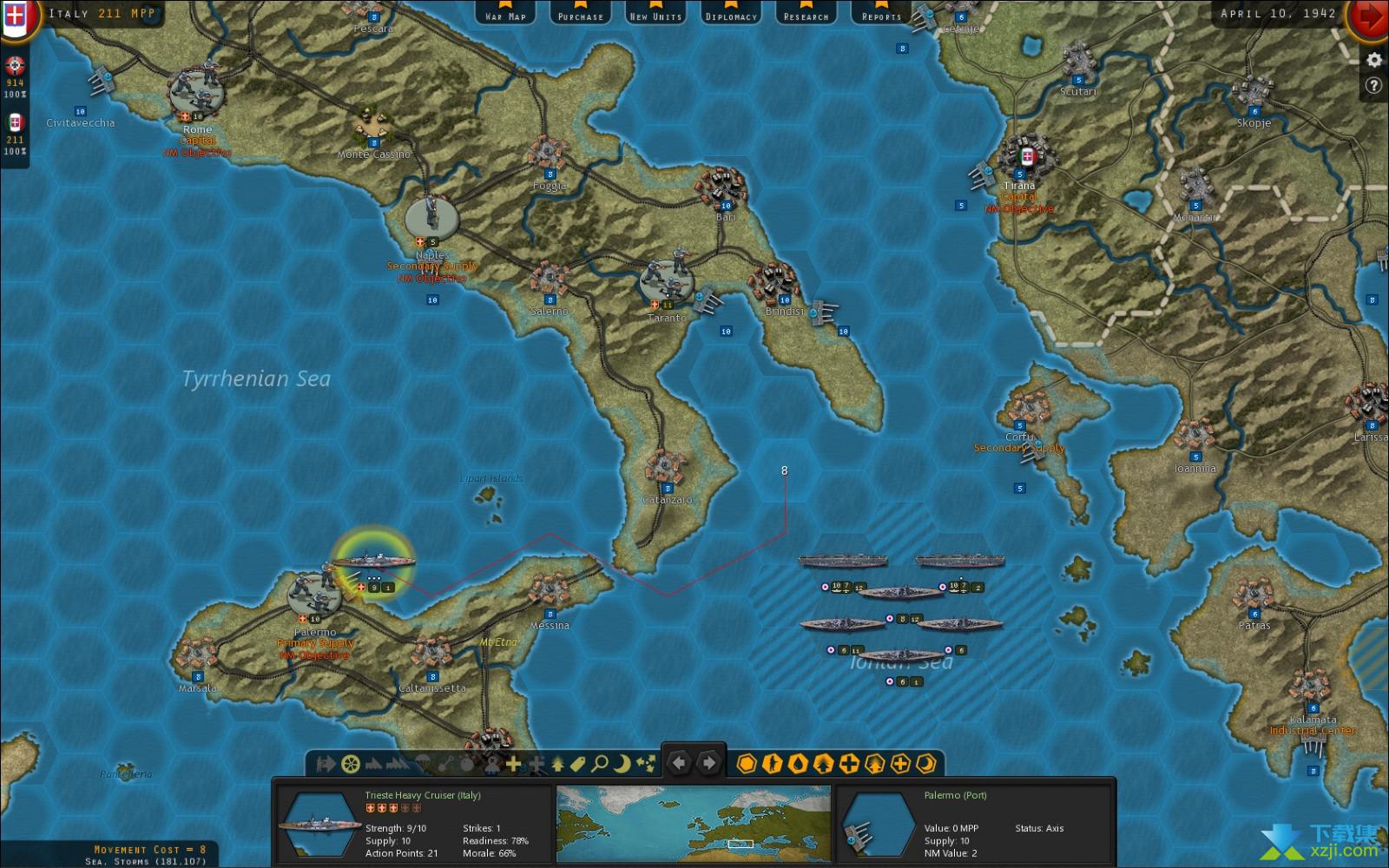 战略命令二战-欧洲战场界面1