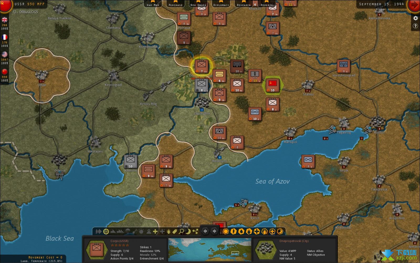 战略命令二战-欧洲战场界面4