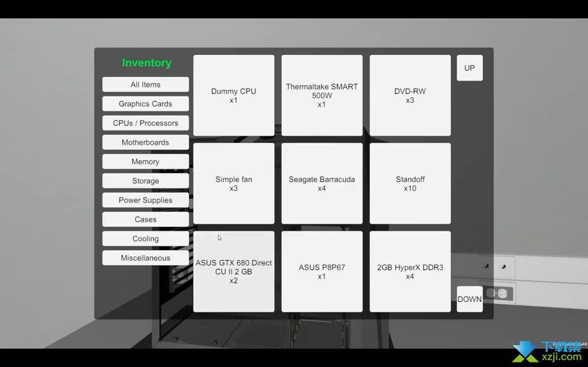 电脑装机模拟界面1