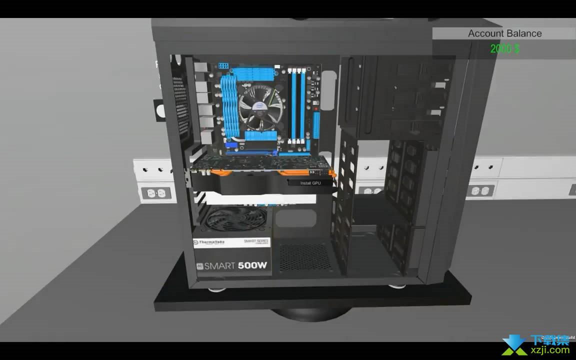 电脑装机模拟界面2