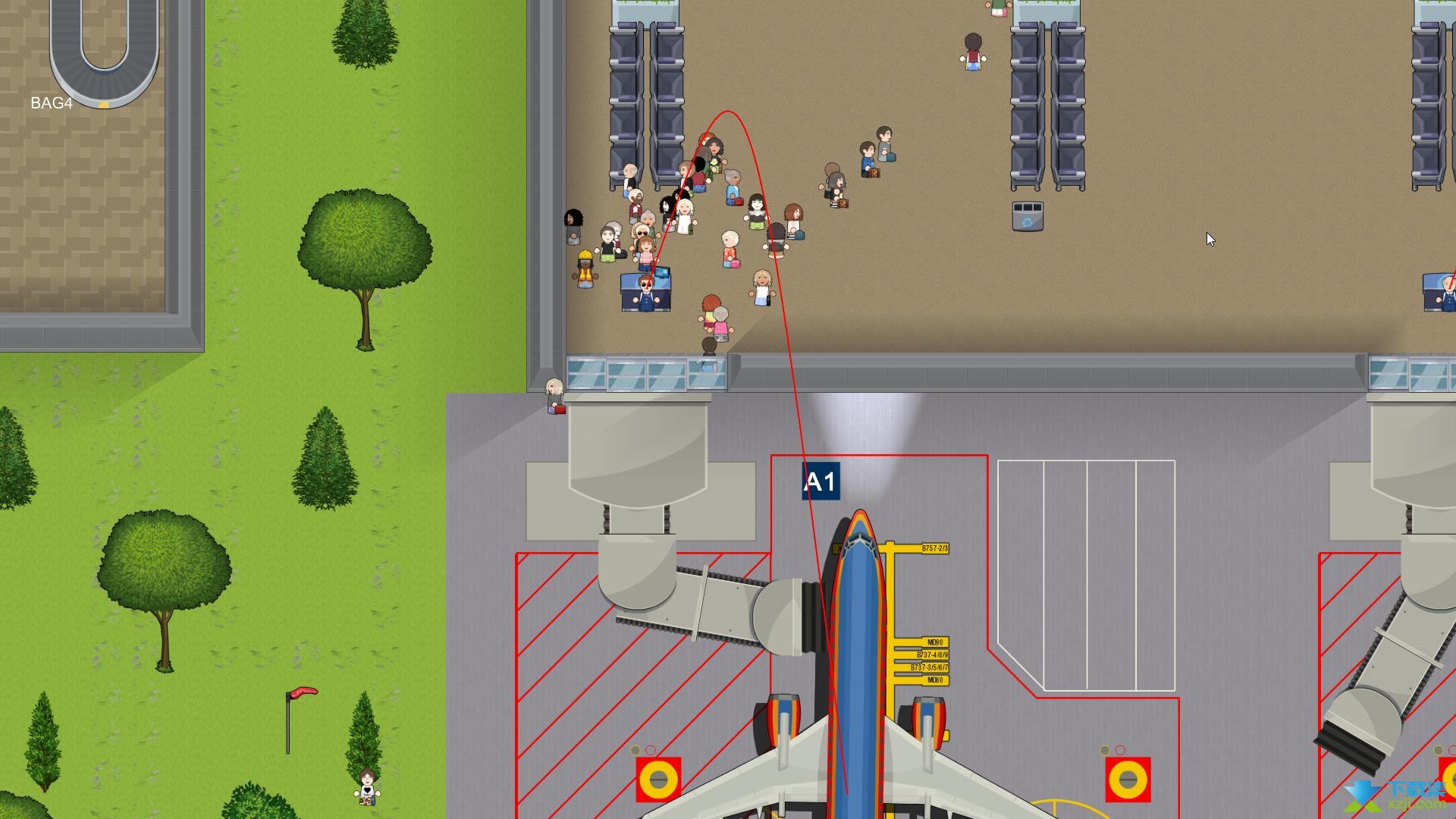 模拟机场界面