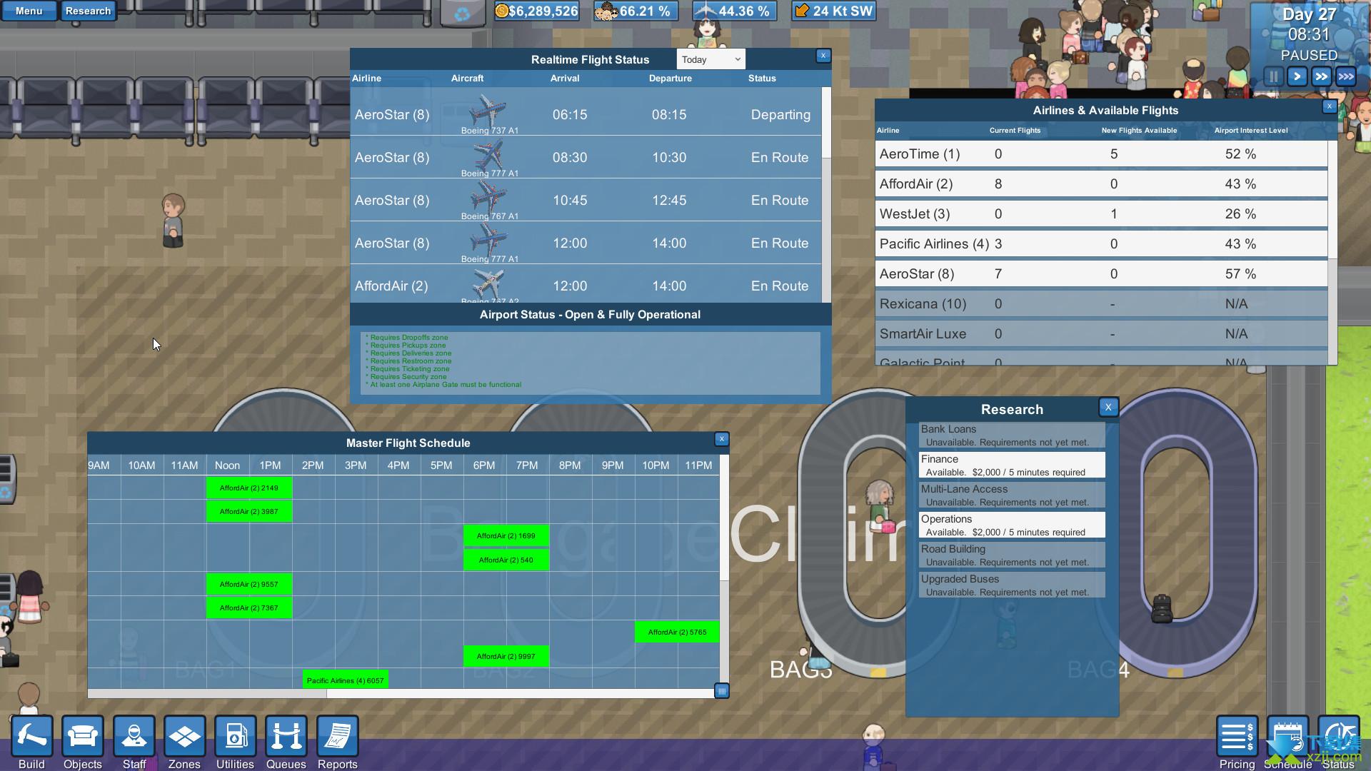 模拟机场界面3