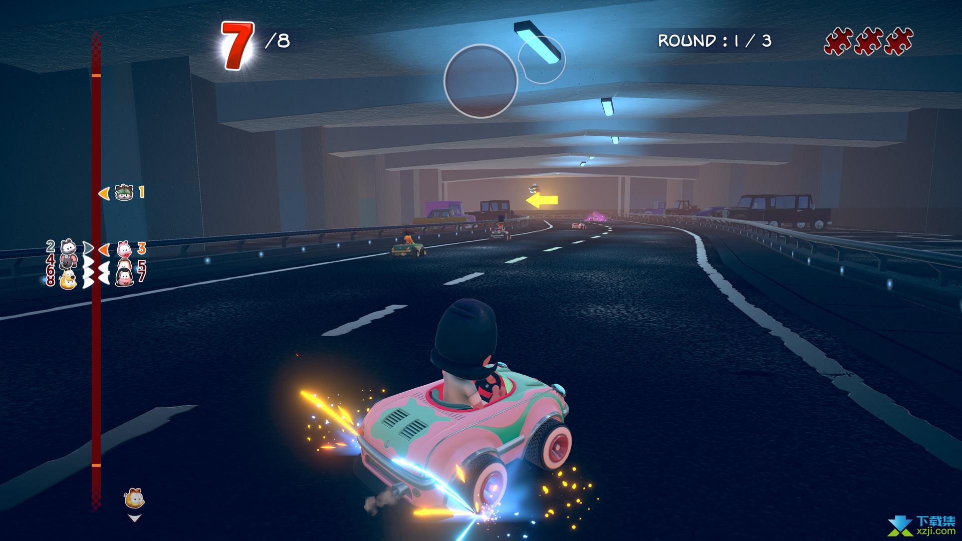 加菲猫卡丁车激情竞速界面