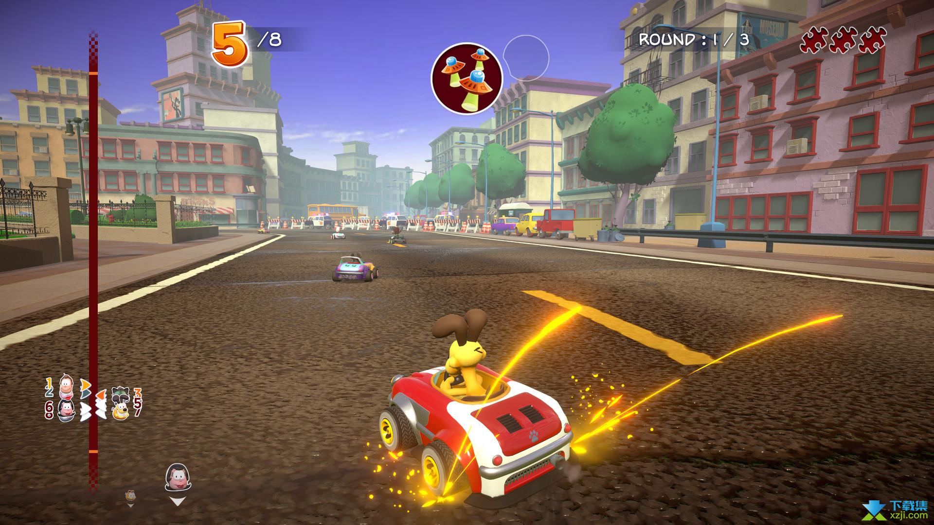 加菲猫卡丁车激情竞速界面1