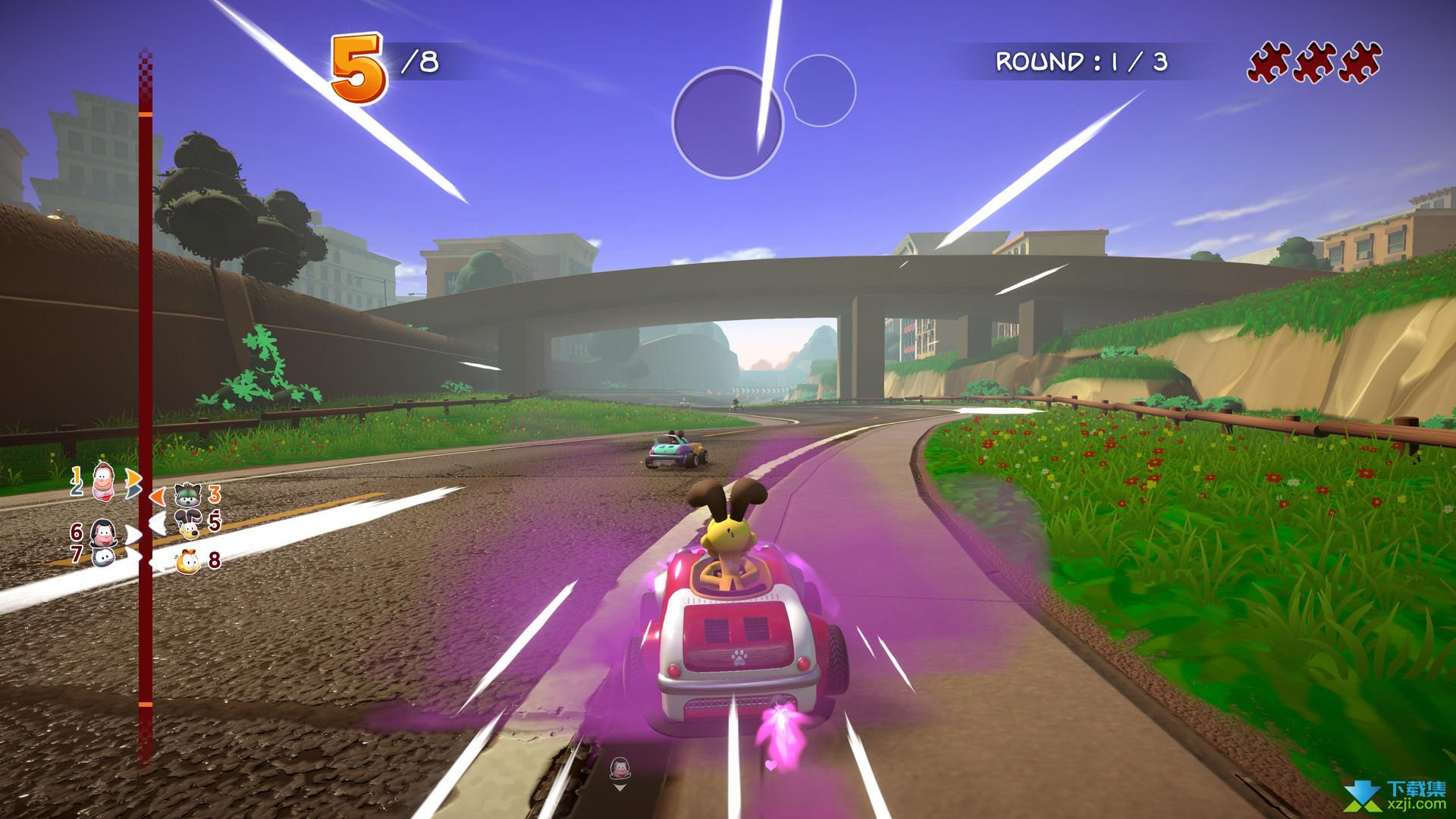 加菲猫卡丁车激情竞速界面2