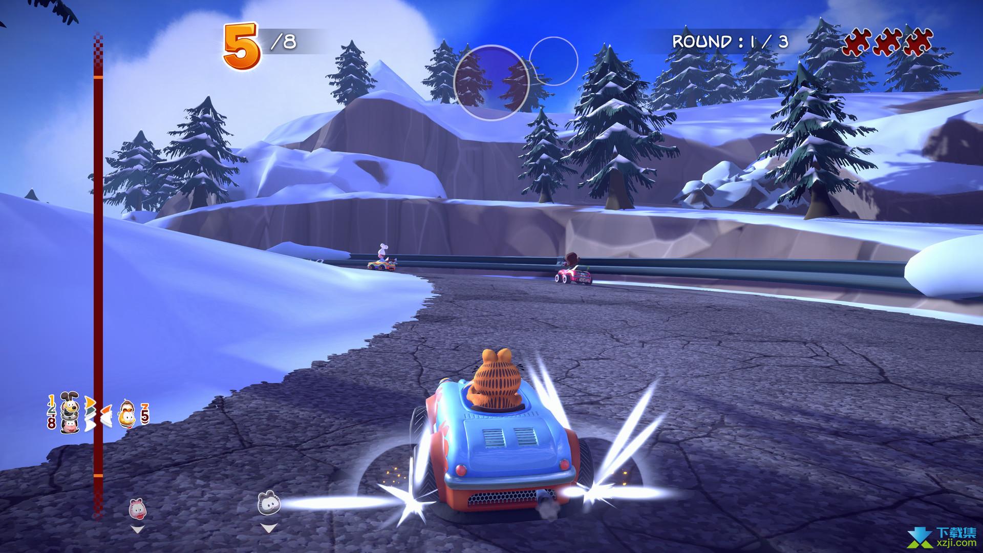 加菲猫卡丁车激情竞速界面3
