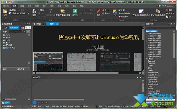 IDM UEStudio界面
