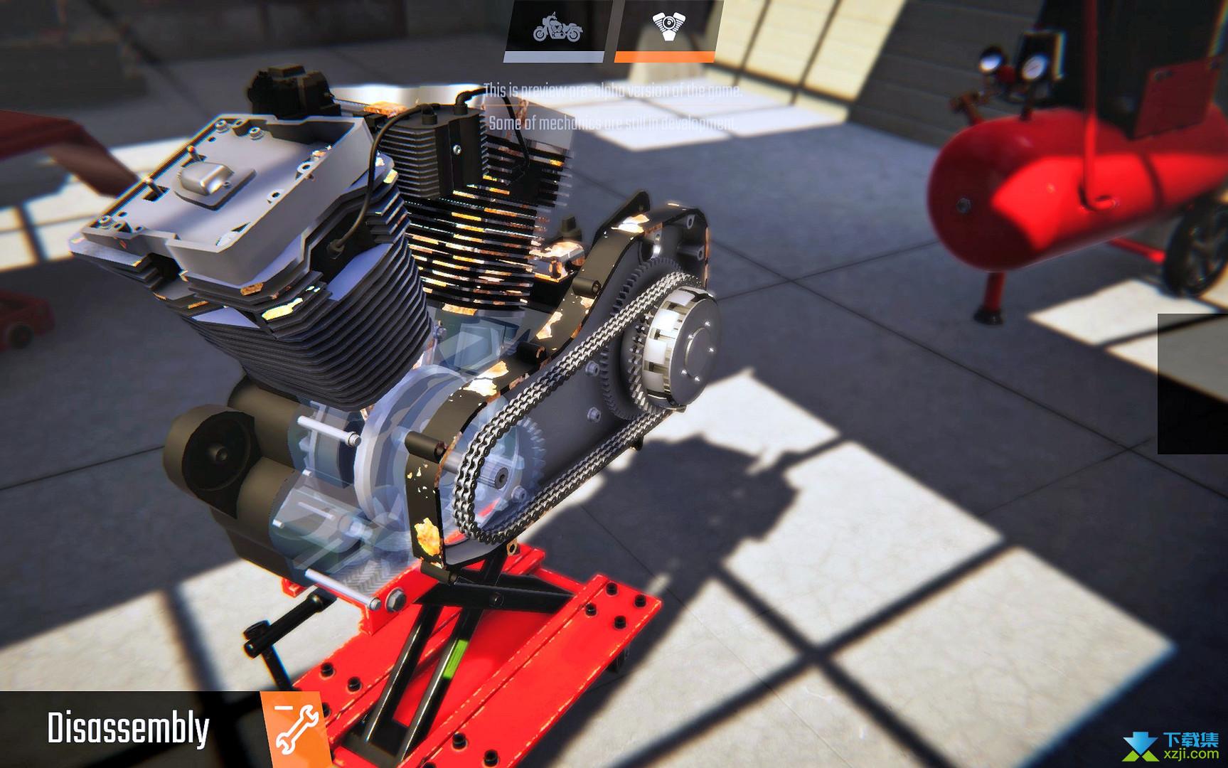 摩托工坊机修模拟器界面1