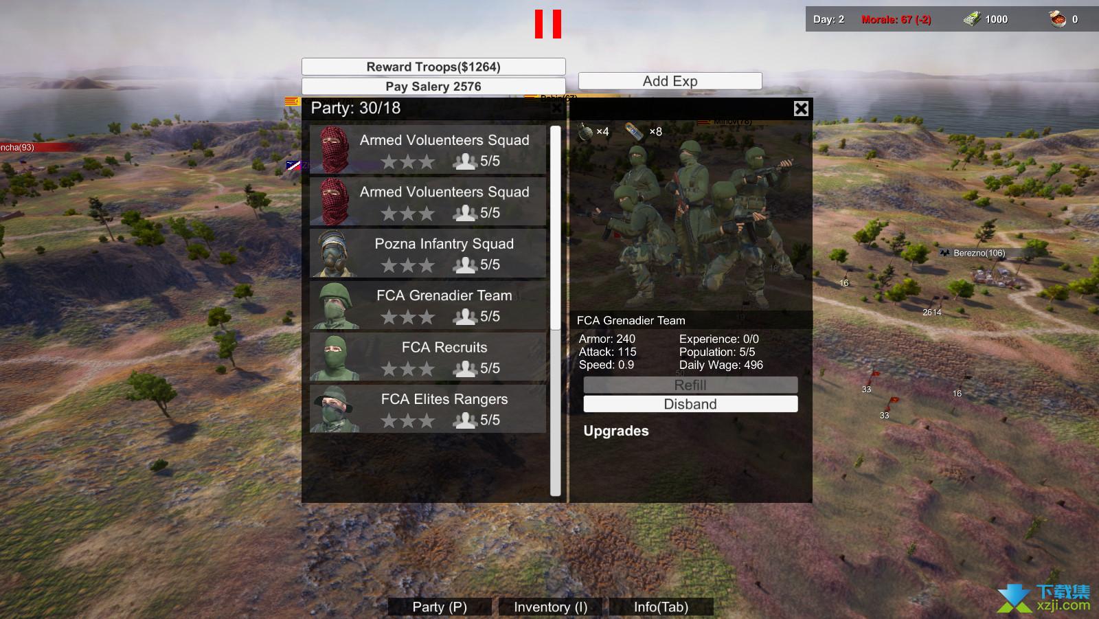 自由人游击战争界面2