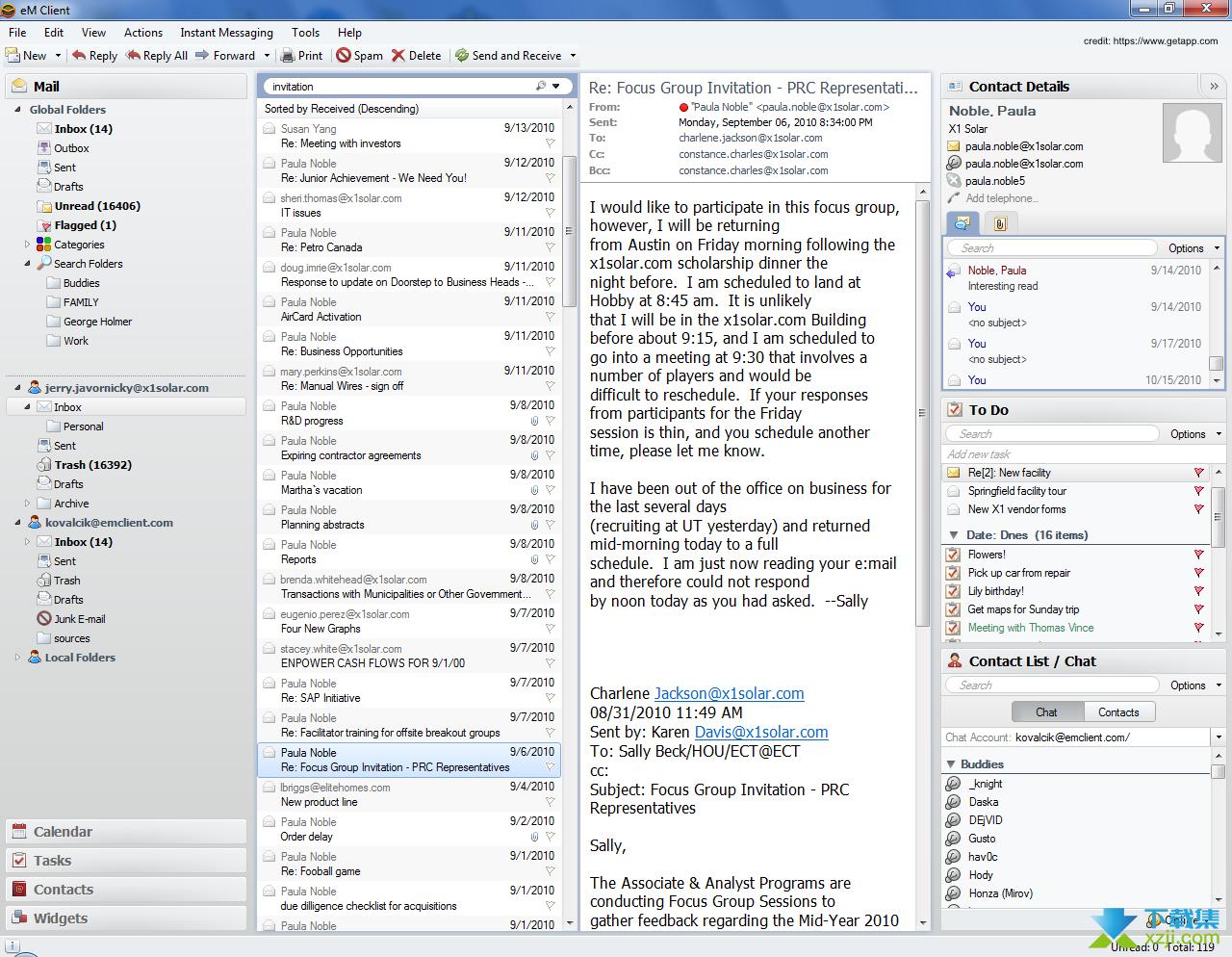 eM Client Pro界面