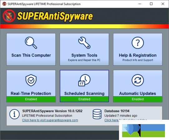 SUPERAntiSpyware界面