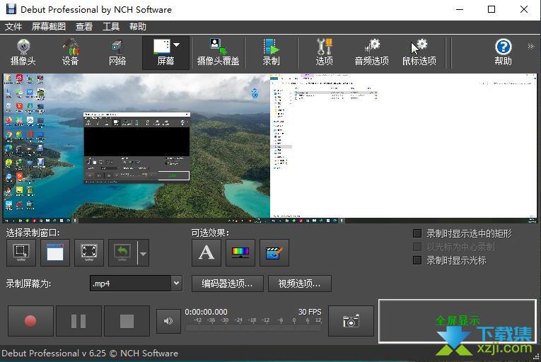 Debut Video Capture Software Pro界面