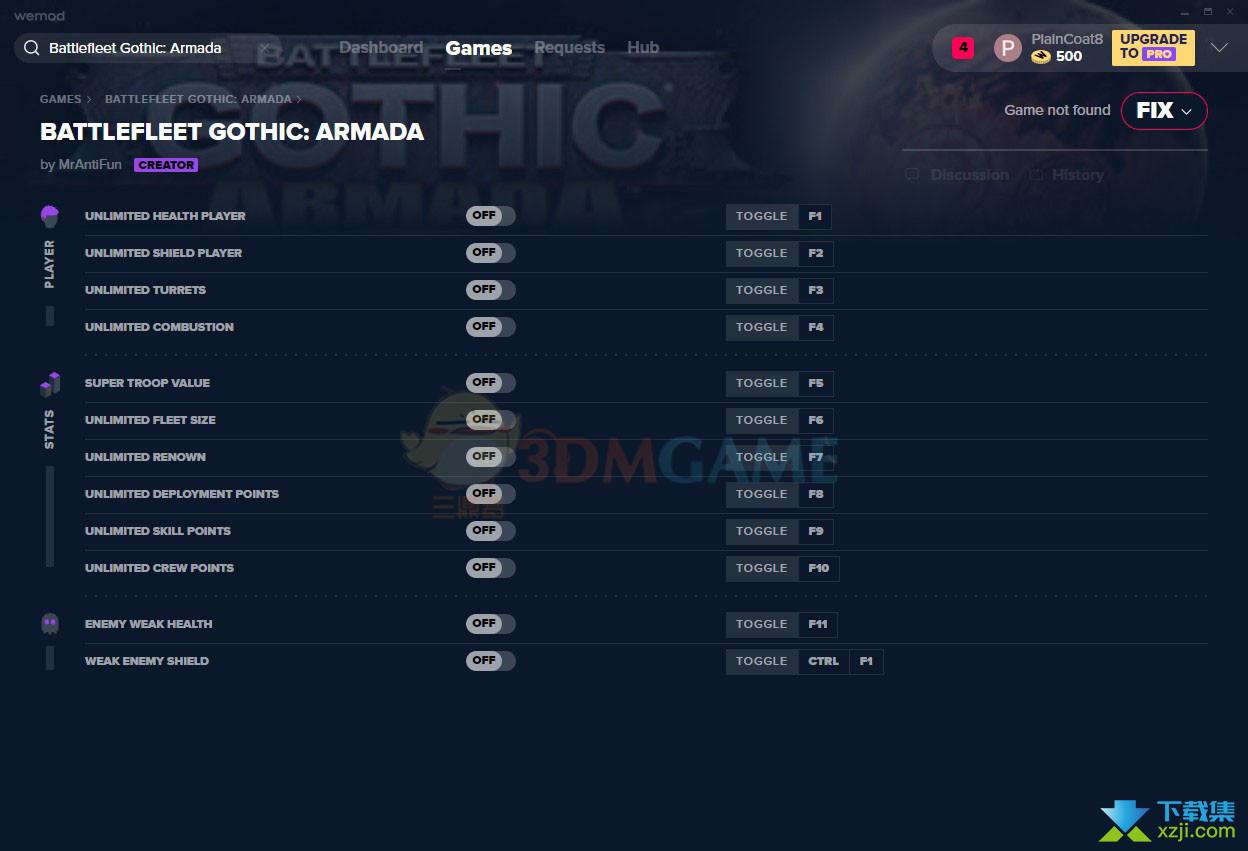 哥特舰队阿玛达修改器+12