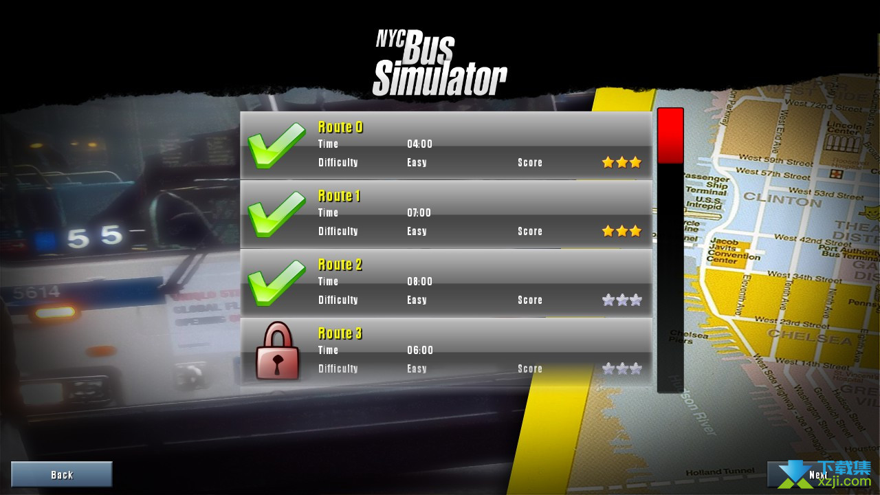 纽约公车模拟界面