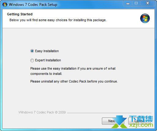 Windows 7 Codec Pack界面