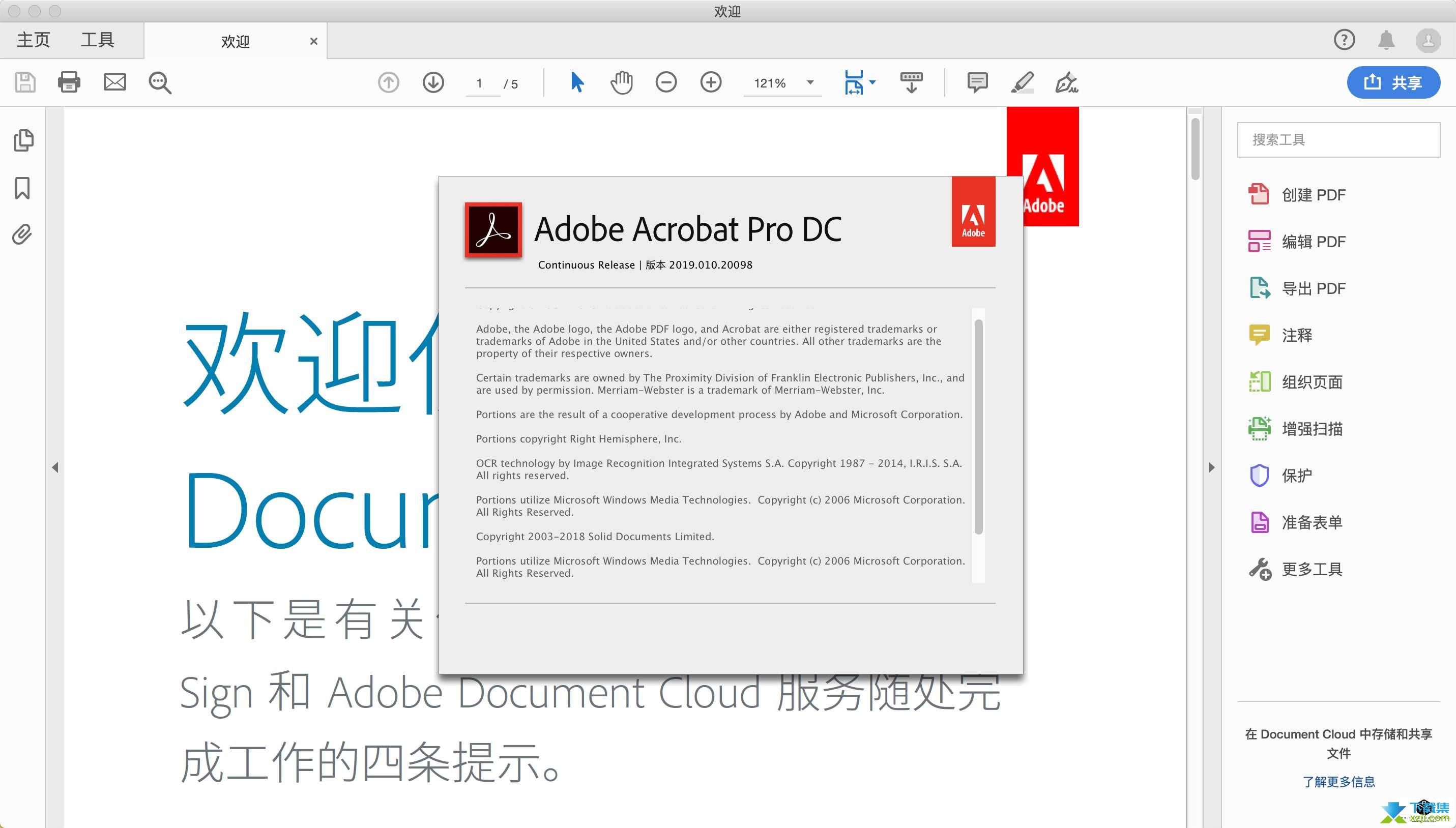 Adobe Acrobat Reader DC界面