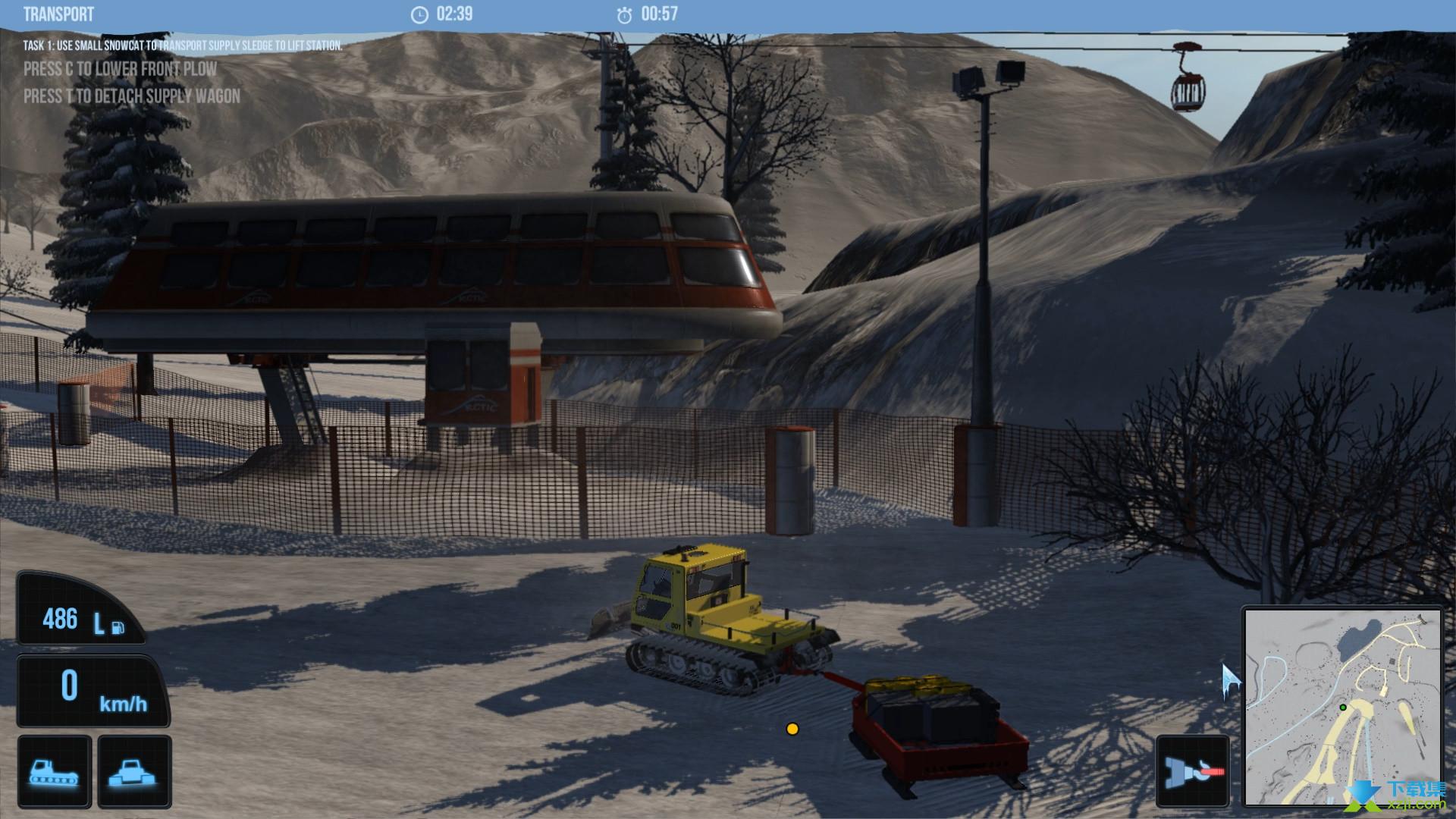 雪地履带车模拟2011界面