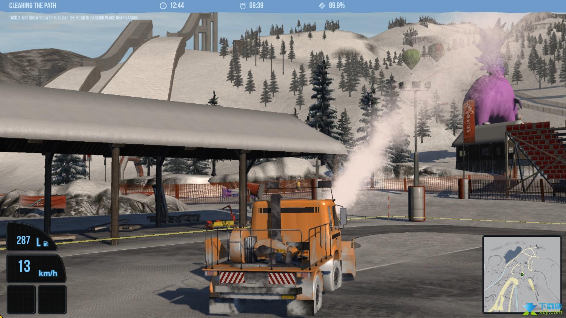 雪地履带车模拟2011界面1