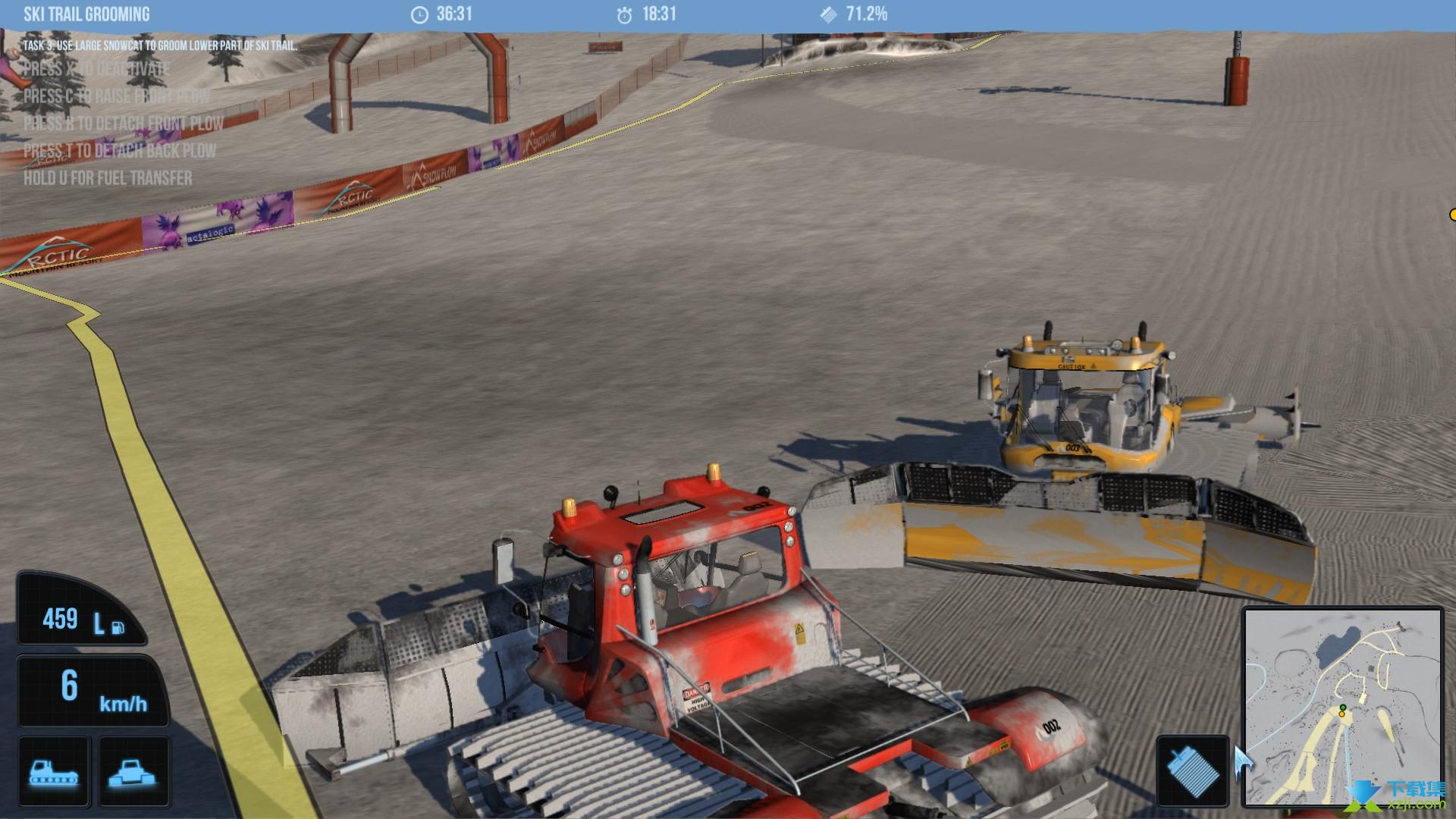 雪地履带车模拟2011界面2