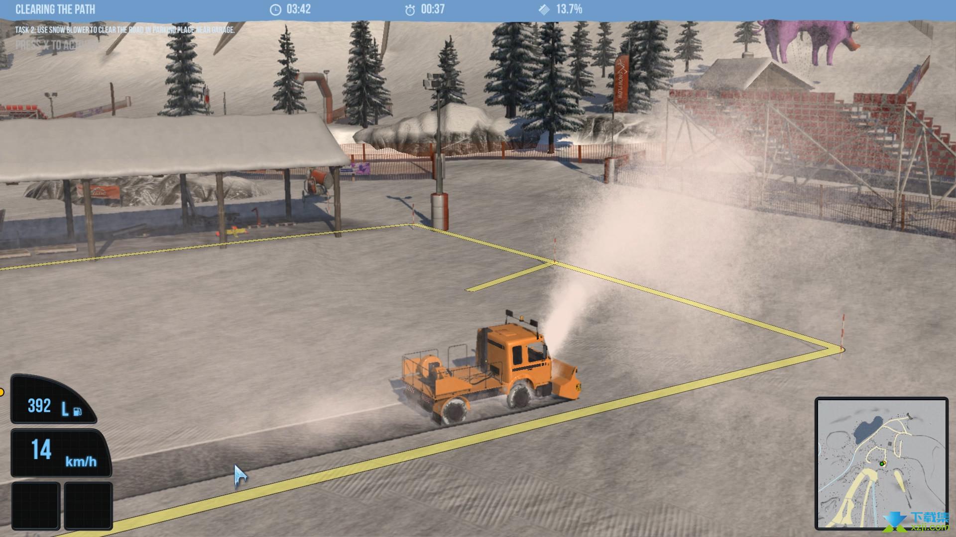 雪地履带车模拟2011界面3