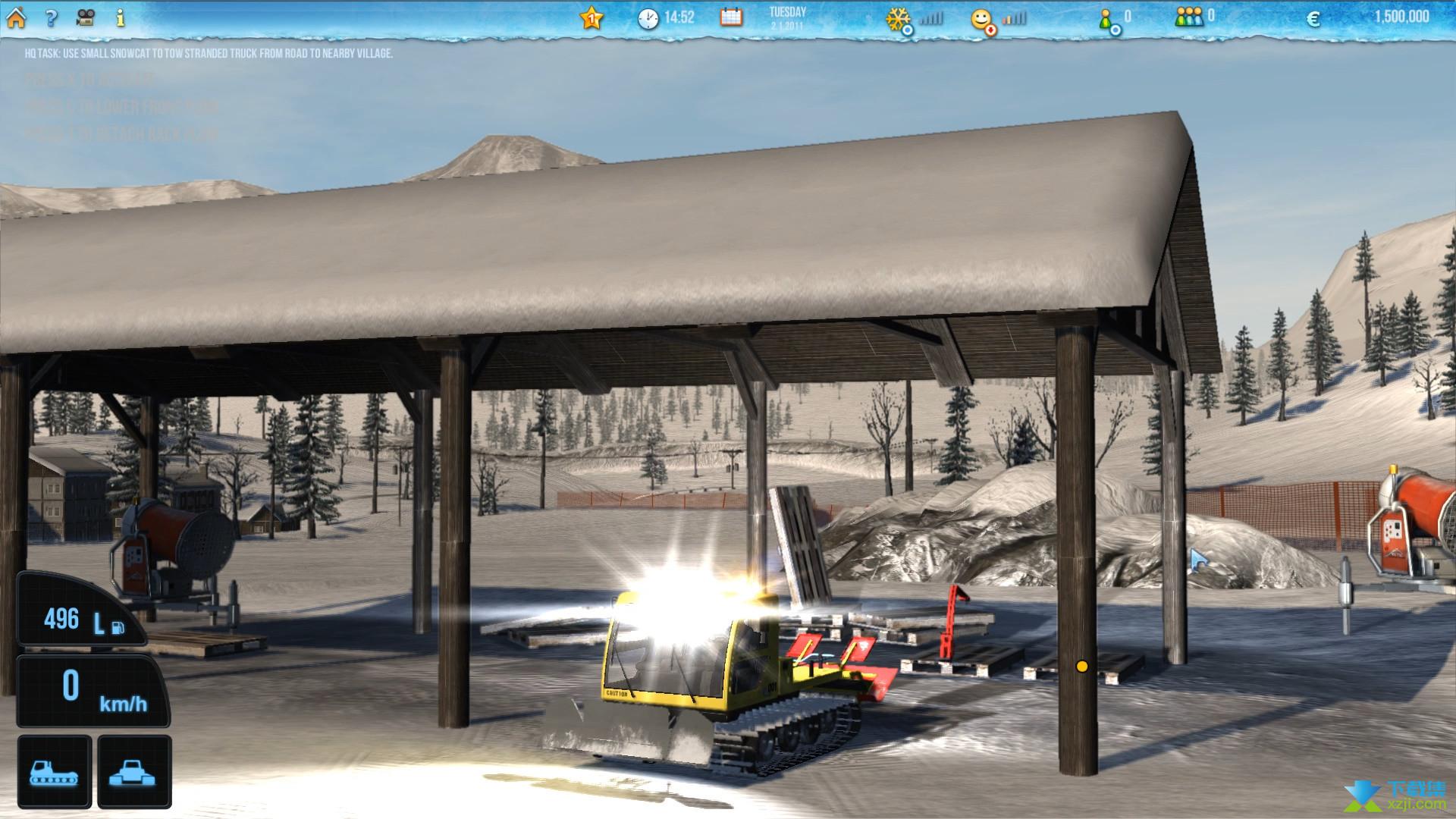 滑雪世界模拟界面