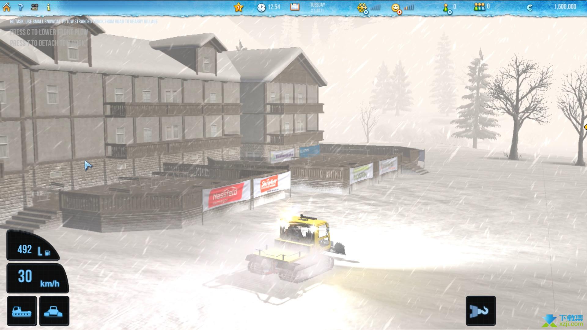 滑雪世界模拟界面2