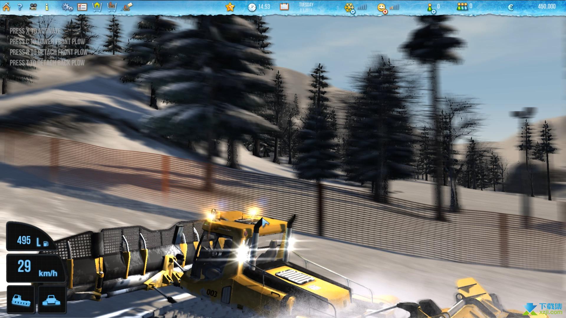 滑雪世界模拟界面4