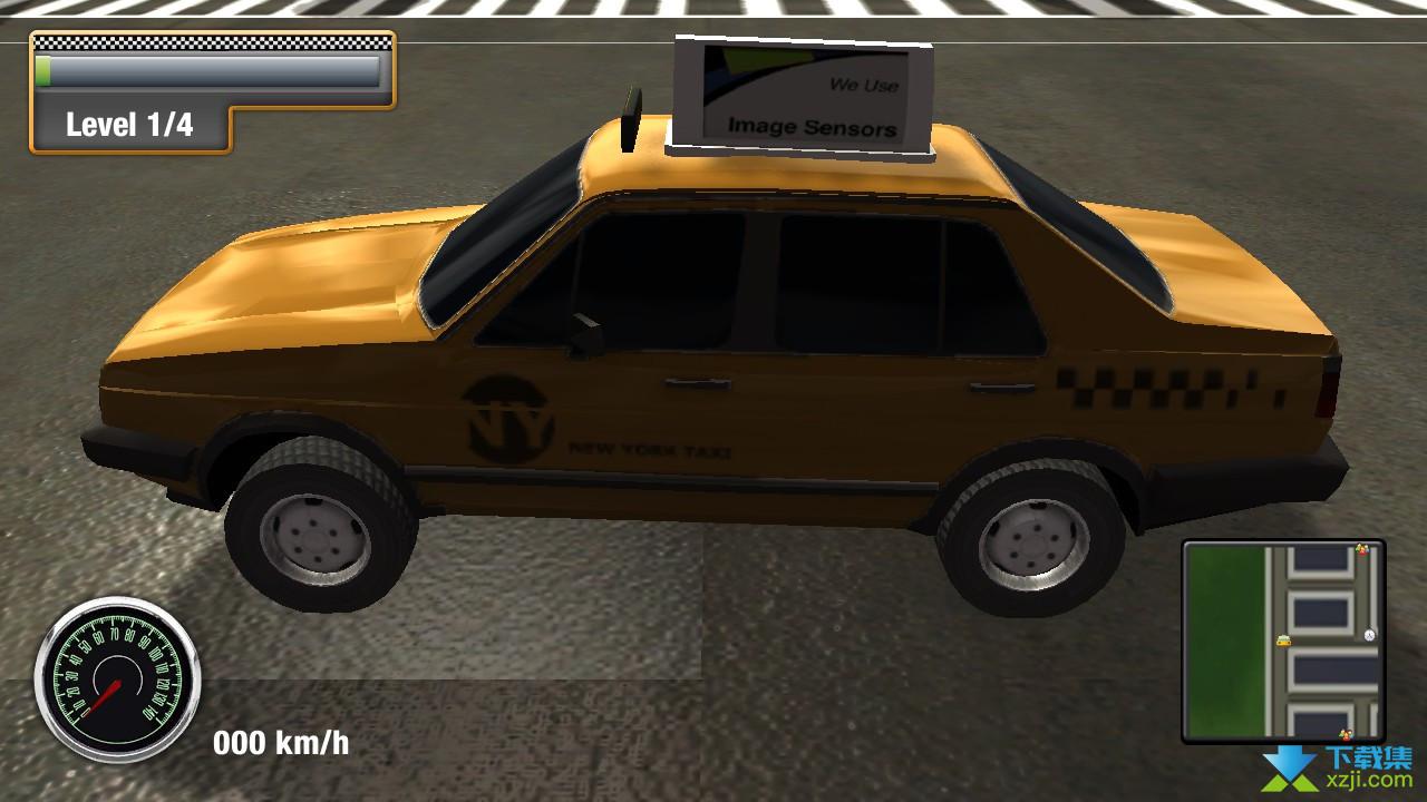 纽约城市出租车模拟界面