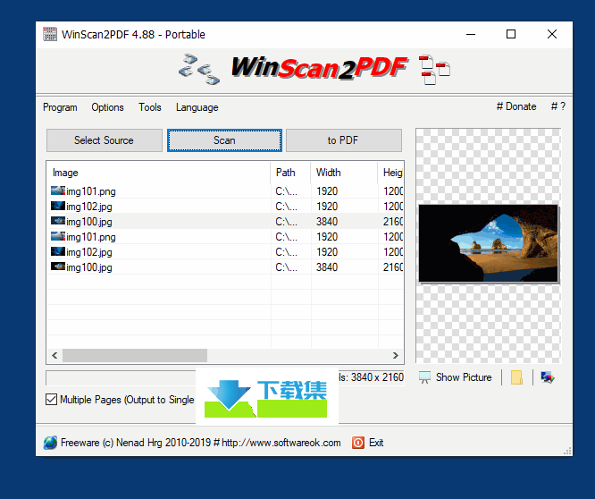 WinScan2PDF界面1