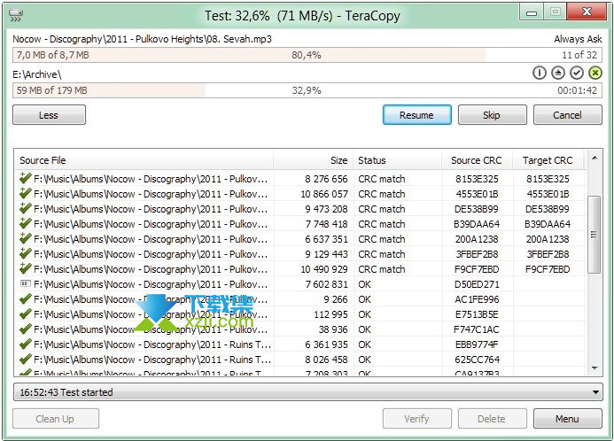 TeraCopy Pro界面