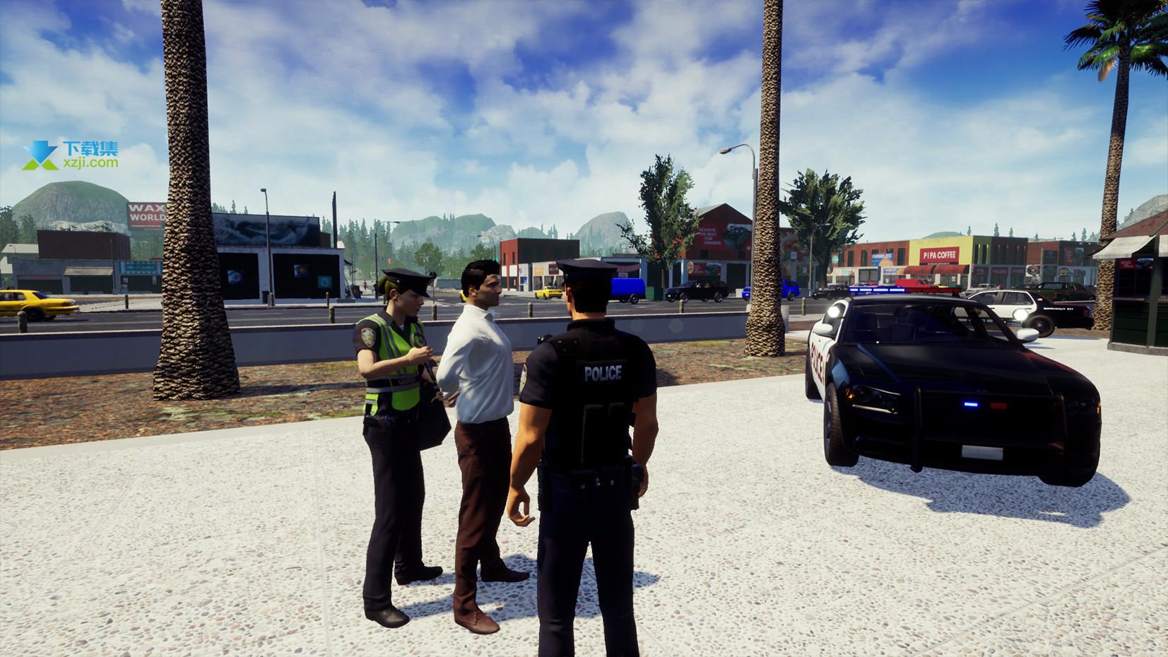 警察模拟器界面