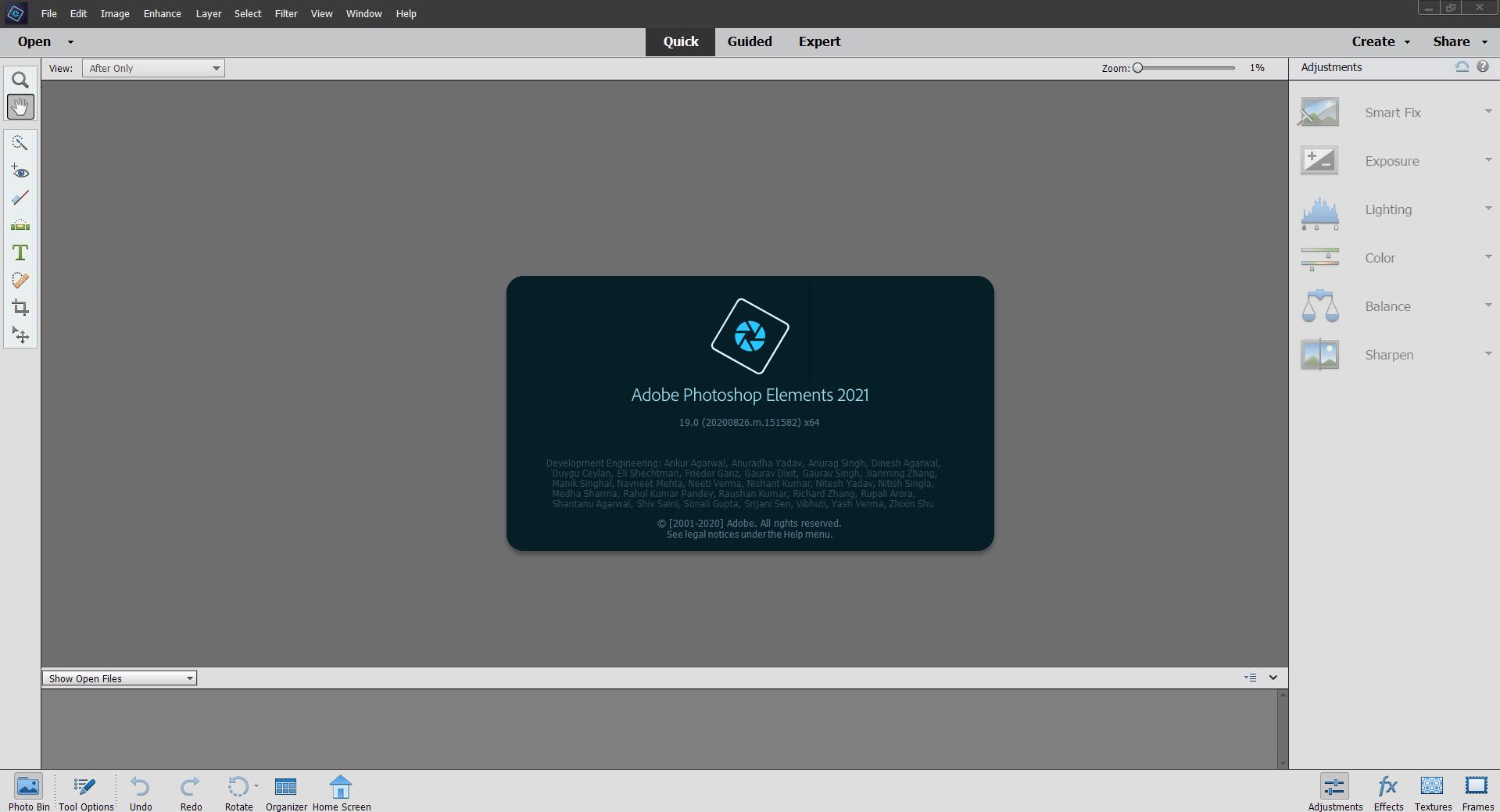 Adobe Photoshop Elements界面