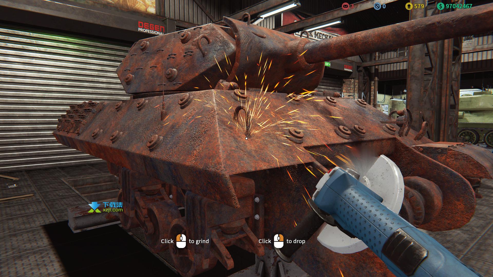 坦克修理模拟器界面2