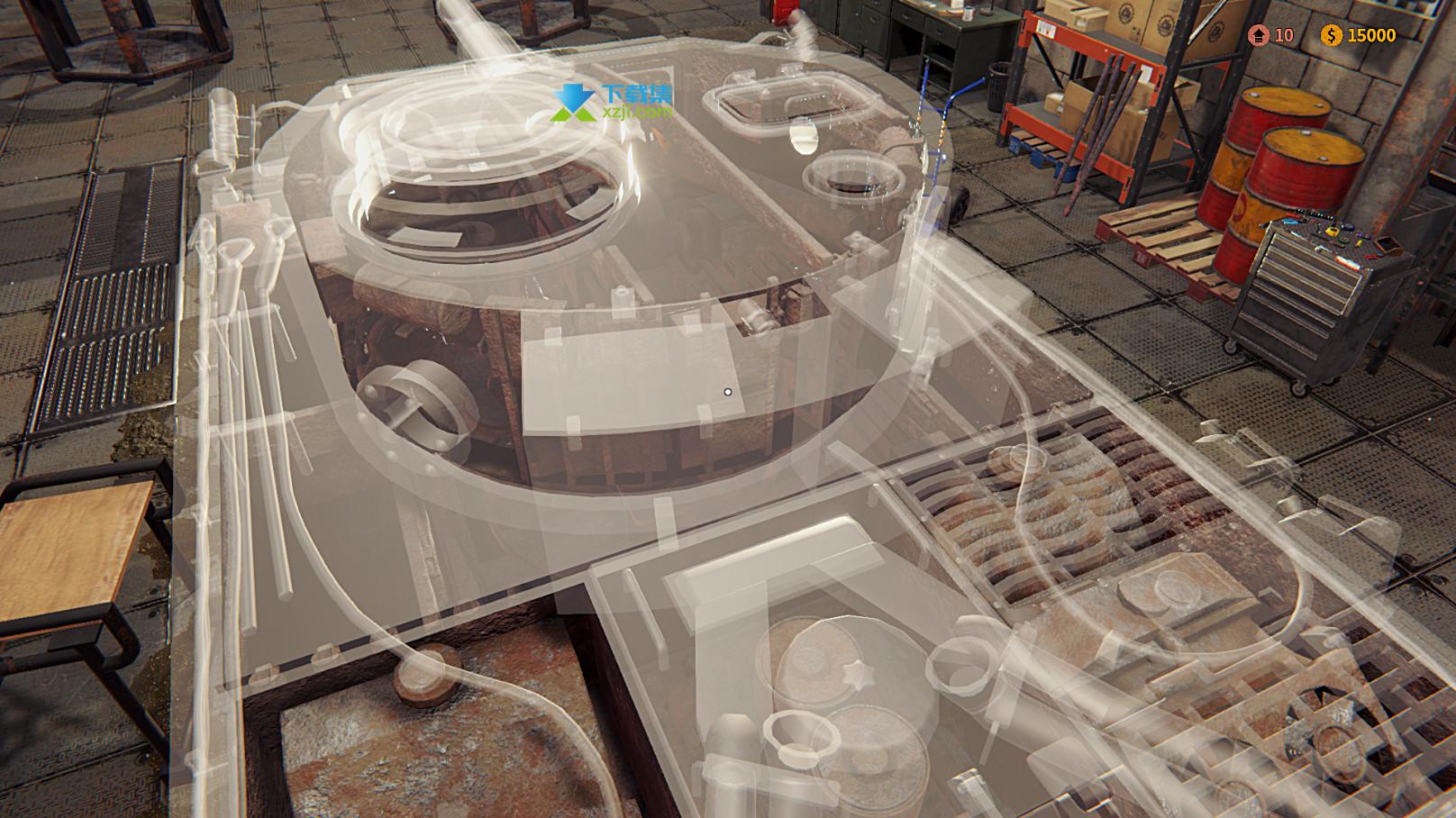 坦克修理模拟器界面4